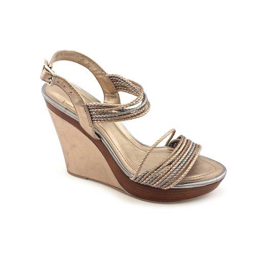 Callista-Womens-Size-11-Bronze-Open-Toe-Wedges-Heels-Shoes-0