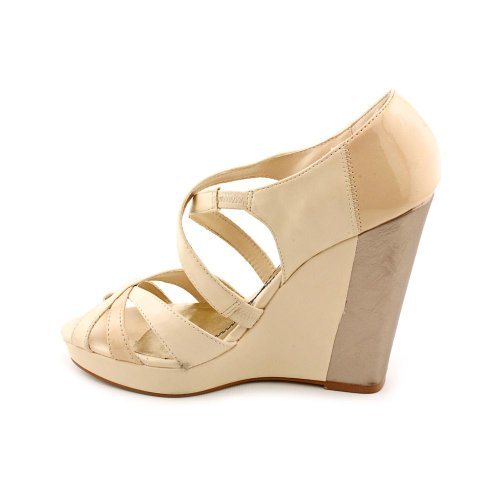 baby juno womens size 7 ivory open toe wedges heels