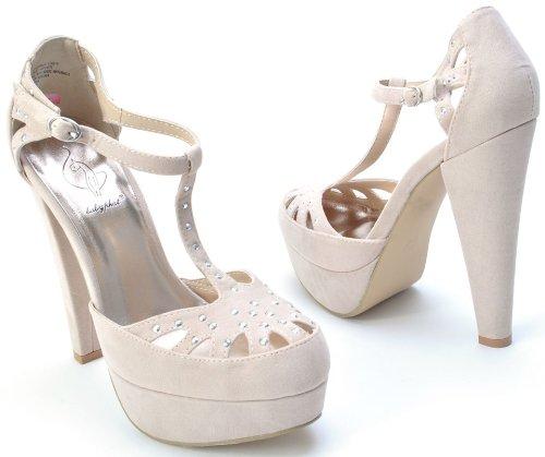Baby Phat Women S Cady Platform Suede Heel In Blush Size 7