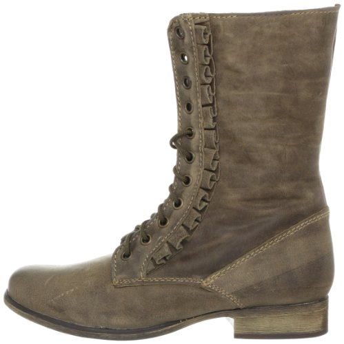 betsey johnson s litza ankle boot taupe leather 6 m