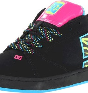 DC-Shoes-Womens-Raif-SE-SneakerBlackSoft-Lime-Print9-US9-M-US-0