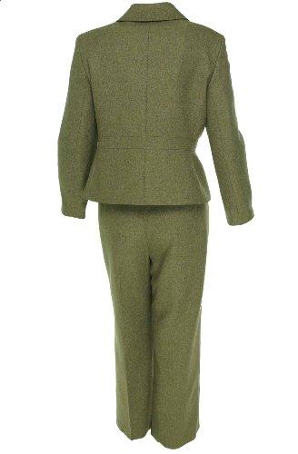Le Suit Women S Petite Wild Spirit Herringbone Pant Suit