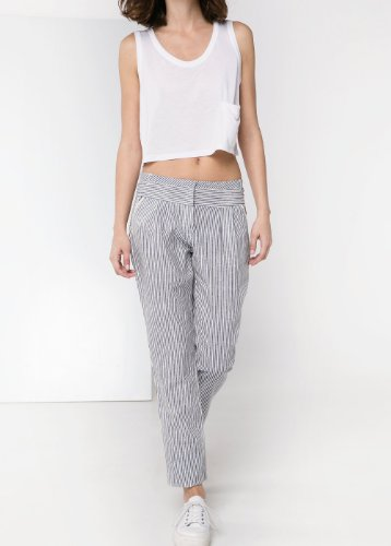 Mango Women S Striped Linen Blend Trousers Anil 6 Top