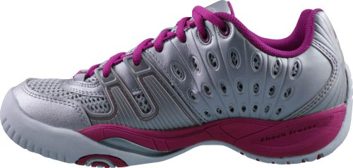 Prince T22 Womens Tennis Shoes (8.5, Silver/Berry)