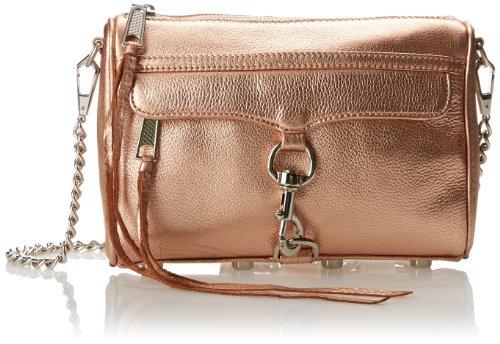 d6a3953132b Rebecca Minkoff Metallic Mini Mac Convertible Cross Body Bag,Rose Gold,One  Size - Top Fashion Web