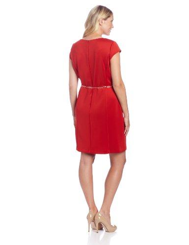 Sandra Darren Women S Plus Size Cap Sleeve Dress Burnt