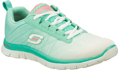 Skechers-Flex-Appeal-New-Arrival-Womens-Walking-ShoeWhiteMint8-M-US-0