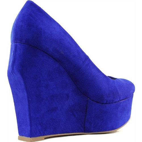 s qupid taken 01 cobalt blue velvet wedges high heel