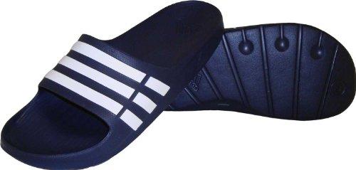 big sale ba024 325ed adidas Duramo Slide Sandal,New Navy/White/New Navy,10 M US Women's/8 ...