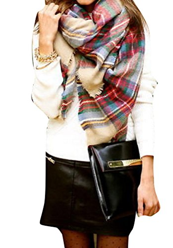 Fengbay Sold Out Bloggers Soft Tartan Checked Plaid Scarf Shawl Cape Camel Top Fashion Web