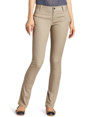 Lee Uniforms Juniors Original Skinny Leg Pant Khaki 9