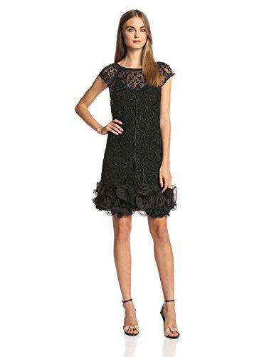 Jessica Simpson Women S Short Sleeve Lace Ruffle Hem Dress