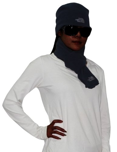475305cbf 2 PCS SET: The North Face Womens Thermal Fleece Scarf & Beanie Hat Dark  Blue - Top Fashion Web