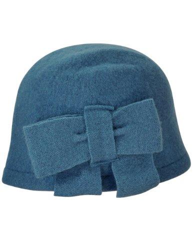Dahlia Women S Vintage Large Bow Wool Cloche Bucket Hat