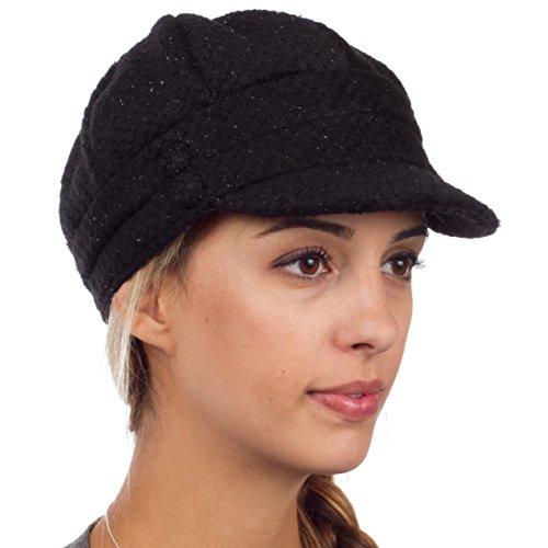 eh505bc womens wool blend newsboy cabbie winter hat