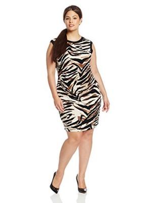 Julian-Taylor-Womens-Plus-Size-Sleeveless-Animal-Print-Dress-TaupeBlack-18-0