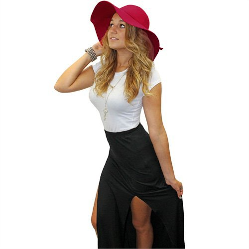 Luxury Divas Glamorous Burgundy Wide Brim Diva Style Floppy Hat Top Fashion Web