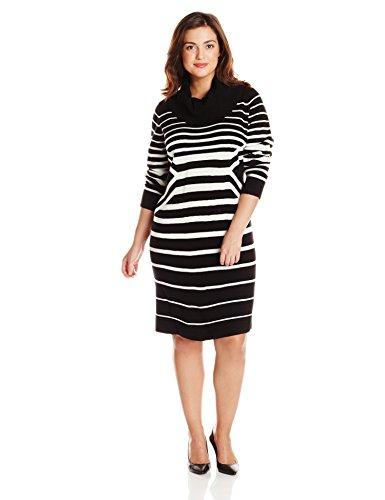 Sandra Darren Women S Plus Size Long Sleeve Cowl Neck