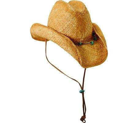 7597ba4b Scala Women's Straw Cowboy Hat, Tea, One Size - Top Fashion Web