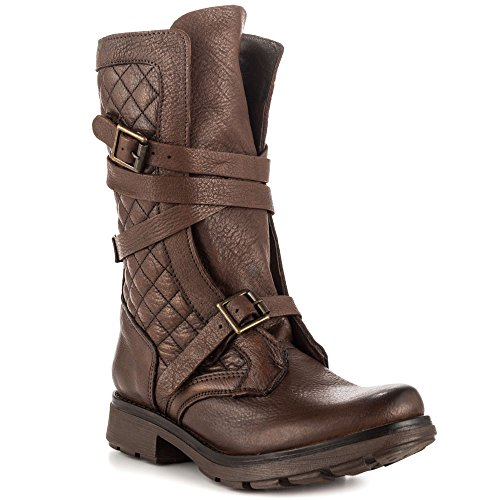 steve madden s bounti combat boot brown leather 6