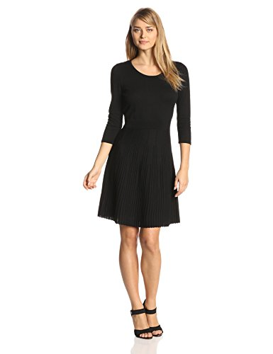 Anne Klein Women S Long Sleeve Scoop Neck Fit And Flare