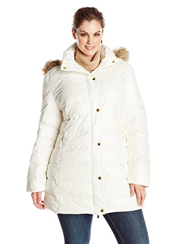Big Chill Women S Plus Size Mid Length Puffer Coat With
