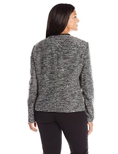 calvin klein women 39 s plus size sweater jacket black white. Black Bedroom Furniture Sets. Home Design Ideas