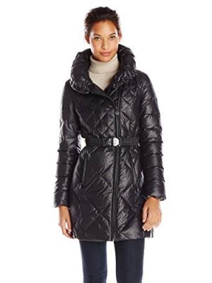 Elie-Tahari-Womens-Amsterdam-Belted-Down-Coat-Black-X-Small-0
