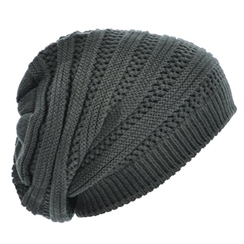 Knitting Pattern Double Layer Hat : HandByHand  Double Layer Mix Stitch Knitted Casual Baggy ...