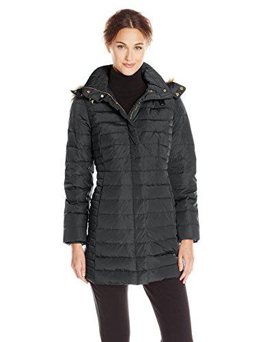 Jones New York Women S Short Down Coat With Fur Trim Hood