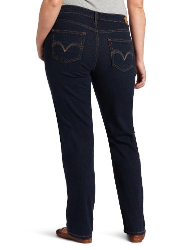 Womens Black Straight Leg Jeans