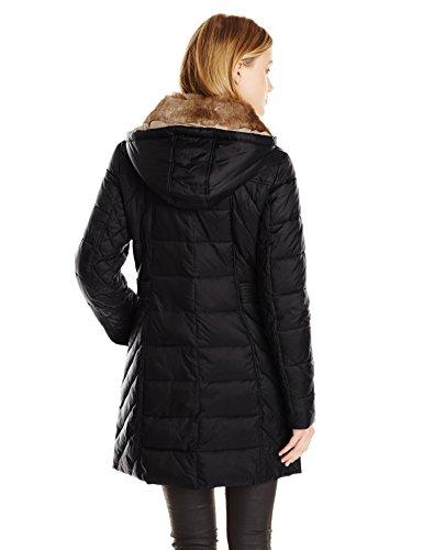 Nautica Women S Mid Length Packable Down Coat With Fur