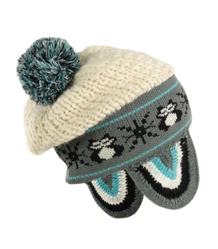 Knit Pom Pom Hat Pattern : Owl Pattern Wool Blend Knit Pom Pom Winter Hat (One Size ...