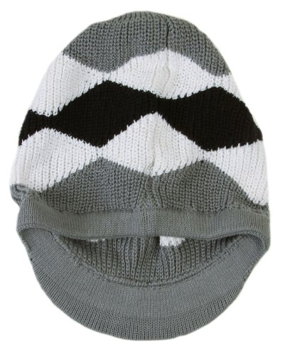 Knit Pattern Beanie With Brim : Simplicity Knit Colorful Winter Hat Rasta Beanie with Brim ...