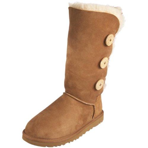 cb833205d38 UGG Australia Women's Bailey Button Triplet Boots Footwear Chestnut Size 9  M - Top Fashion Web