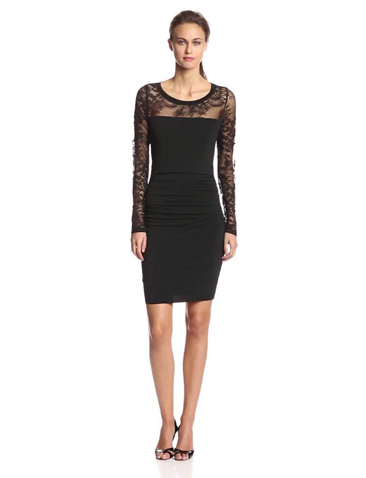 Velvet By Graham Amp Spencer Women S Lace Long Sleeve Dress