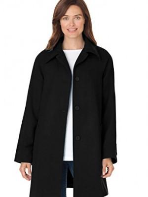 Womens-Plus-Size-Coat-A-line-in-wool-blend-BLACK18-W-0