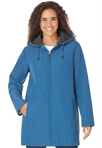 Women's Plus Size Jacket in lightweight mini quilt (HARBOR ...